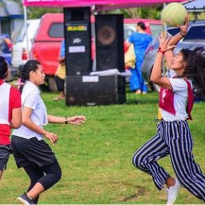 Sports program at the Tongatapu 5 Youth Council event, Kolovai. 15 August 2020