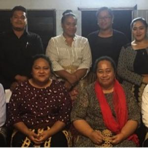 Tongatapu 5 Youth Council working committee with Tongatapu No. 5 People's Representative, Losaline Ma'asi, Free Wesleyan Church Hall- Ha'avakatolo.jpg