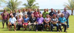 1st ever FSM R2R Team Retreat held in February of 2018 in Pohnpei, FSM. The purpose of the Retreat was to joint plan and  find synnergies for the two projects as well as for the team to officially meet each other. Picture was taken in front of DECEM office.